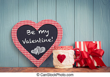 Valentines day concept - Valentines day ornament. Greeting...
