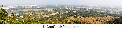 Panoramic view to the city of Mysore on India