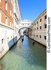 The Bridge of Sighs in Venice, Italy