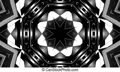 Abstract Black and White 3D Shape VJ Animation
