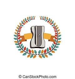 Sharpener school utensil icon vector illustration graphic...