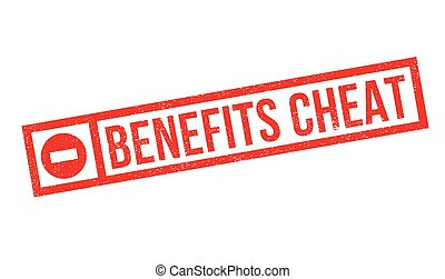 Benefits Cheat rubber stamp. Grunge design with dust...
