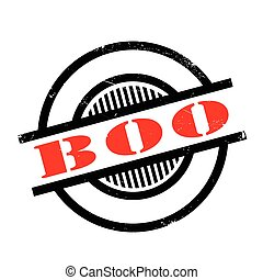 Boo rubber stamp. Grunge design with dust scratches. Effects...