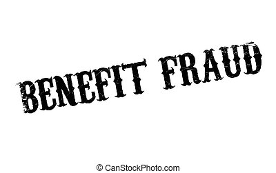 Benefit Fraud rubber stamp. Grunge design with dust...