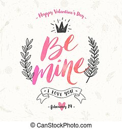 Valentine's day hand drawn vector illustration.