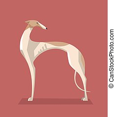 Greyhound dog minimalist image