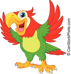 cute parrot cartoon - vector illustration of cute parrot...