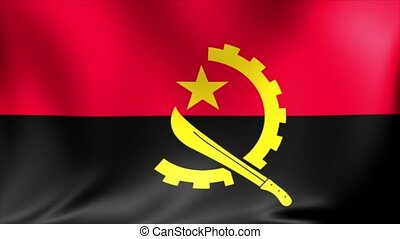 Angola Flag. Background Seamless Looping Animation.