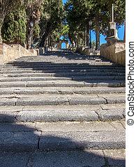 Steps in Arta in Mallorca Baleares Spain