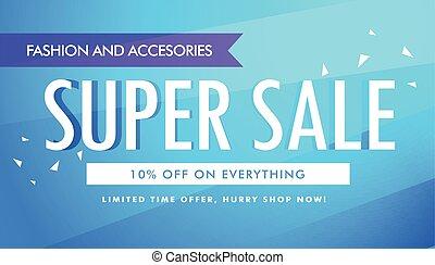 super sale promotional banner template design