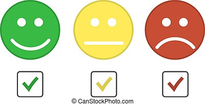 Smiley emoticons icon positive, neutral and negative....