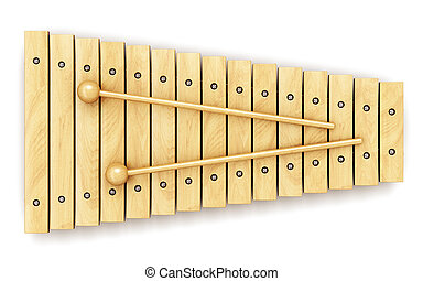 Wooden xylophone - Creative abstract percussion musical...