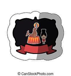 Circus tamer cartoon