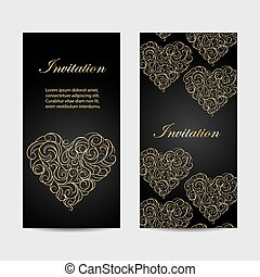 Set of vercal banners - Set of vertical banners . Beautiful...