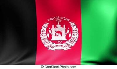 Afghanistan Flag. Background Seamless Looping Animation.
