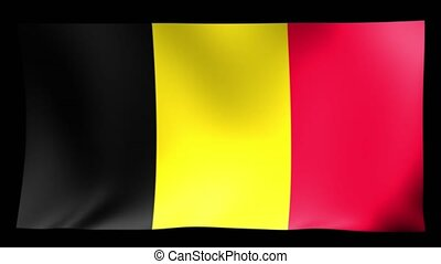 Belgium Flag. Background Seamless Looping Animation. 4K High Definition Video.
