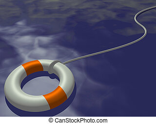 Life Preserver - Image of a life preserver floating on a...