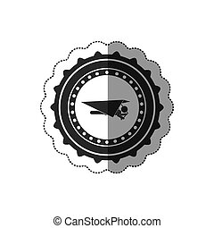 Hang gliding extreme sport icon vector illustration graphic...