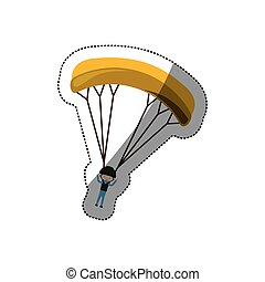 Skydiving extreme sport icon vector illustration graphic...