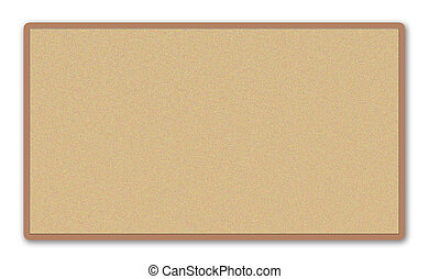 Corkboard - Image of a blank corkboard on a white...