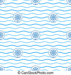 Compass Rose, Seamless Pattern - Seamless Pattern with...