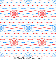 Compass Rose , Seamless Pattern - Seamless Pattern with...