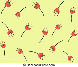 Red flower seamless pattern for your wallpaper design.