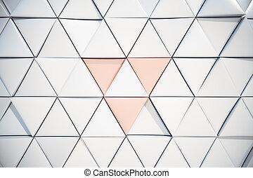 白, 三角, 背景