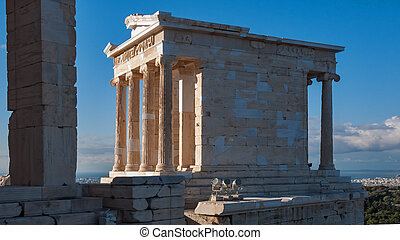 Propylaea -monumental gateway in the Acropolis of Athens,...