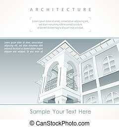 Poster or site of architecture agency