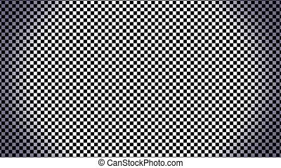 Checkerboard Zoom - Fast moving turbulence transition. Video...