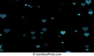 Nice Hearts Background Overlay - HD video overlay with very...