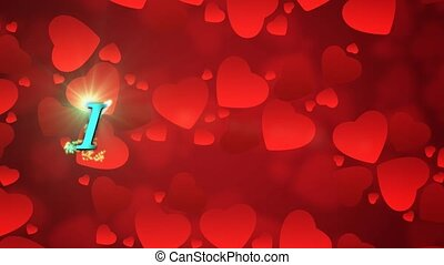 Valentine Background 13 - Valentine's day background with...