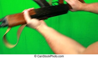 Beating And Aiming With Ak47 - Beating and aiming with ak-47...
