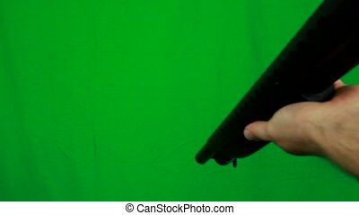 Shotgun Pull Out From Above - Green Screen - Pulling out a...