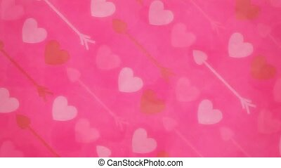 Valentine Background 1 - Background with hearts and bokeh...