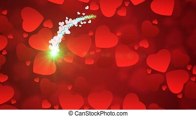 Valentine Background 12 - Valentine's day background with...