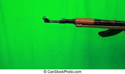 Ak47 Pull Out Top View - Top view. Pulling out a AK-47...