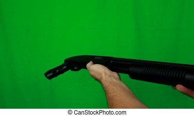 Giving A Shotgun With Two Hands - Giving someone a shotgun...