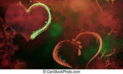Valentine Background 11 - Valentine's day background with...