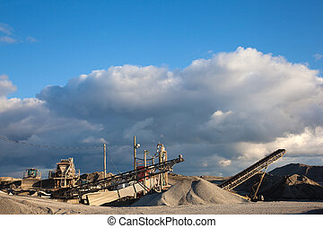 Quarry - Conveyors and equipment at a quarry.