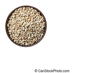 Millet seeds in can