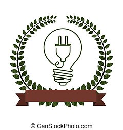 Think green energy icon vector illustration graphic design