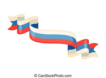 Russian ribbons in flag colors. - Russian ribbons in flag...