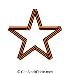Saint George ribbon in form of star.