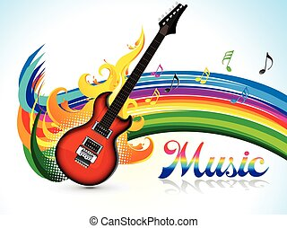 abstract artistic colorful music background.eps