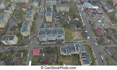 Vertical Flight Over Small Town 5