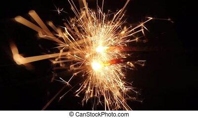 Burning Bengal Lights Sparkler 5 * Use blending modes to get...