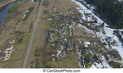 Flight Over Small Town 2 - Aerial HD High Quality footage...