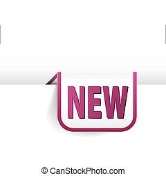 Purple rounded rectangle bookmark
